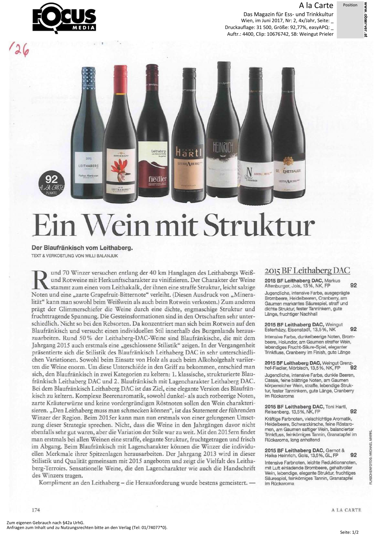Ein Wein mit Struktur – Der Blaufränkisch vom Leithaberg