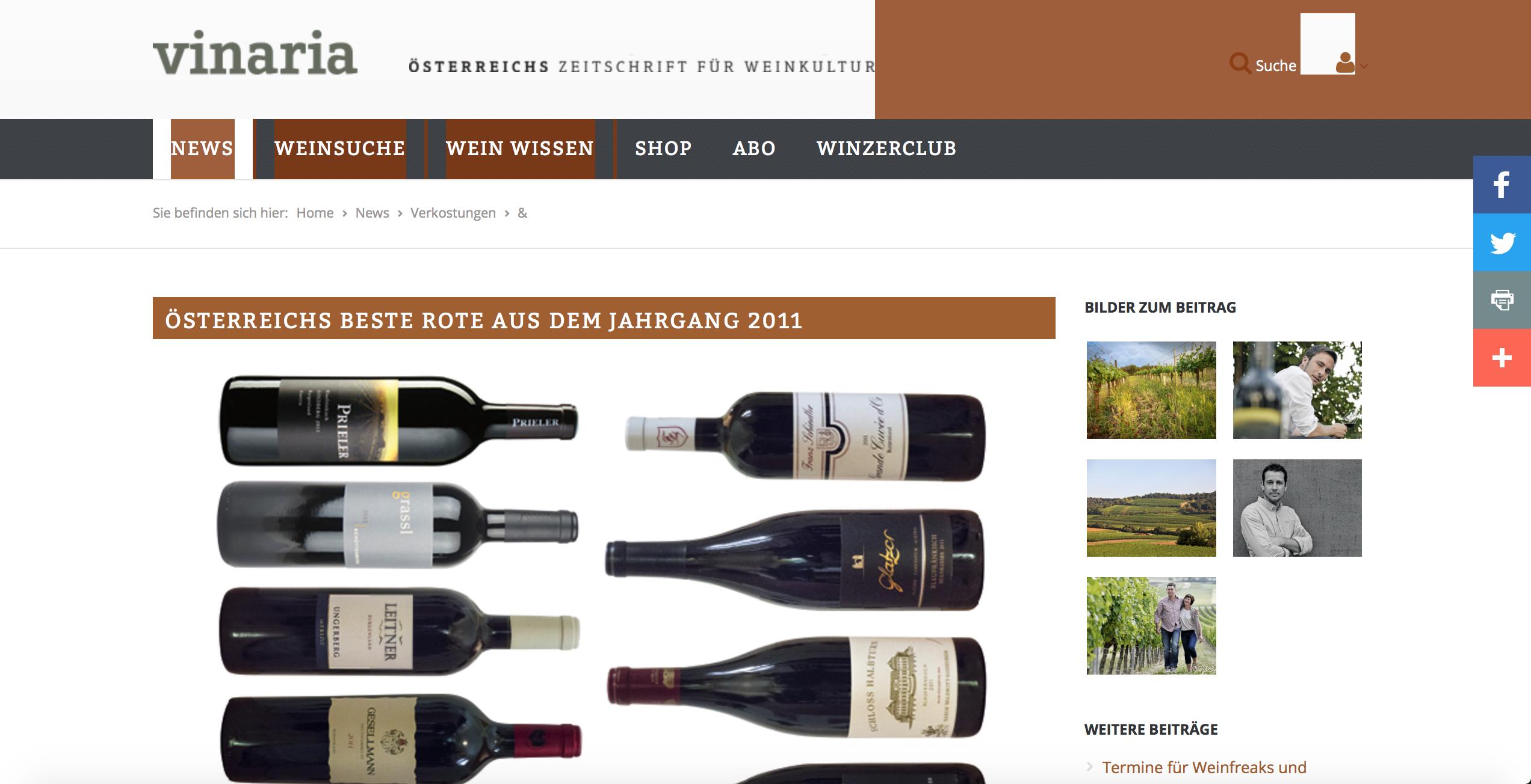 Österreichs beste Rote aus dem Jahrgang 2011