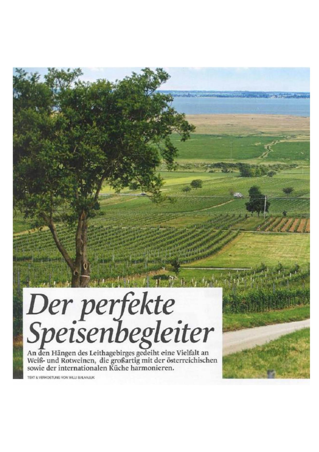 Der perfekte Speisebegleiter – Weingut Prieler