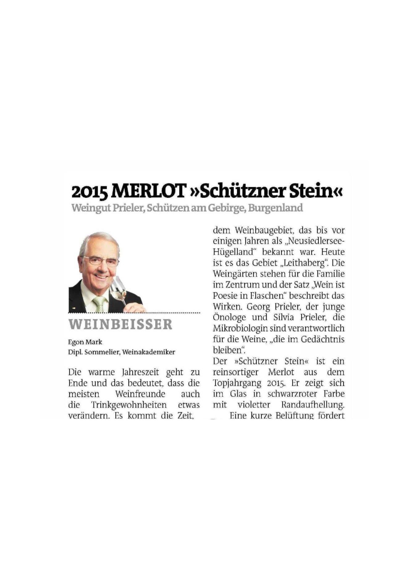 Merlot Schützner Stein 2015