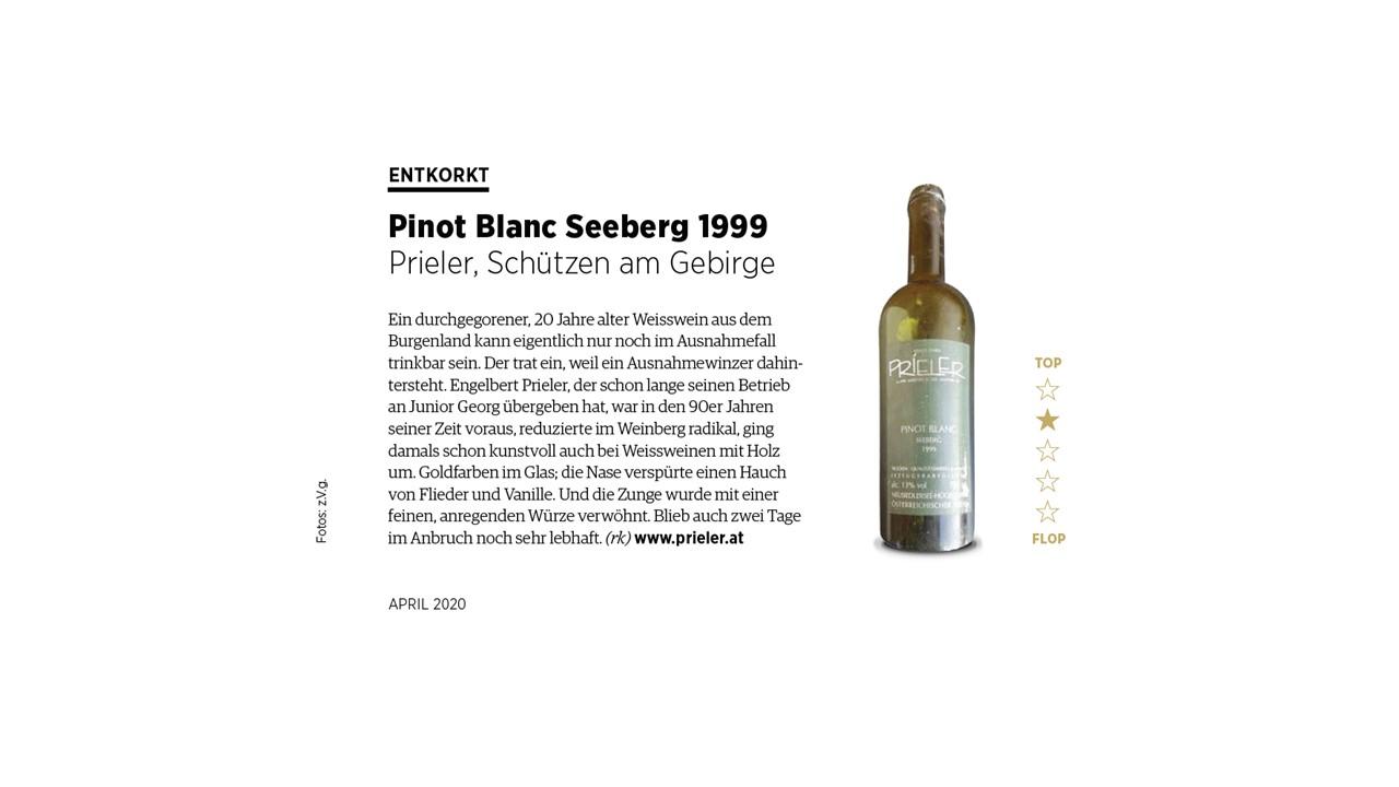 Entkorkt – Pinot Blanc Seeberg 1999