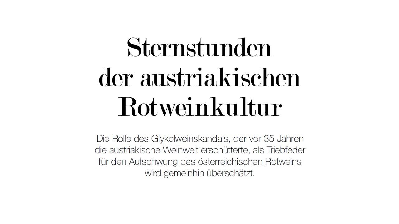 Sternstunden der austriakischen Rotweinkultur