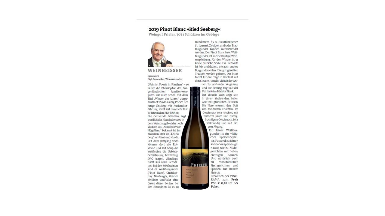 Weinbeisser – Pinot Blanc Seeberg 2019