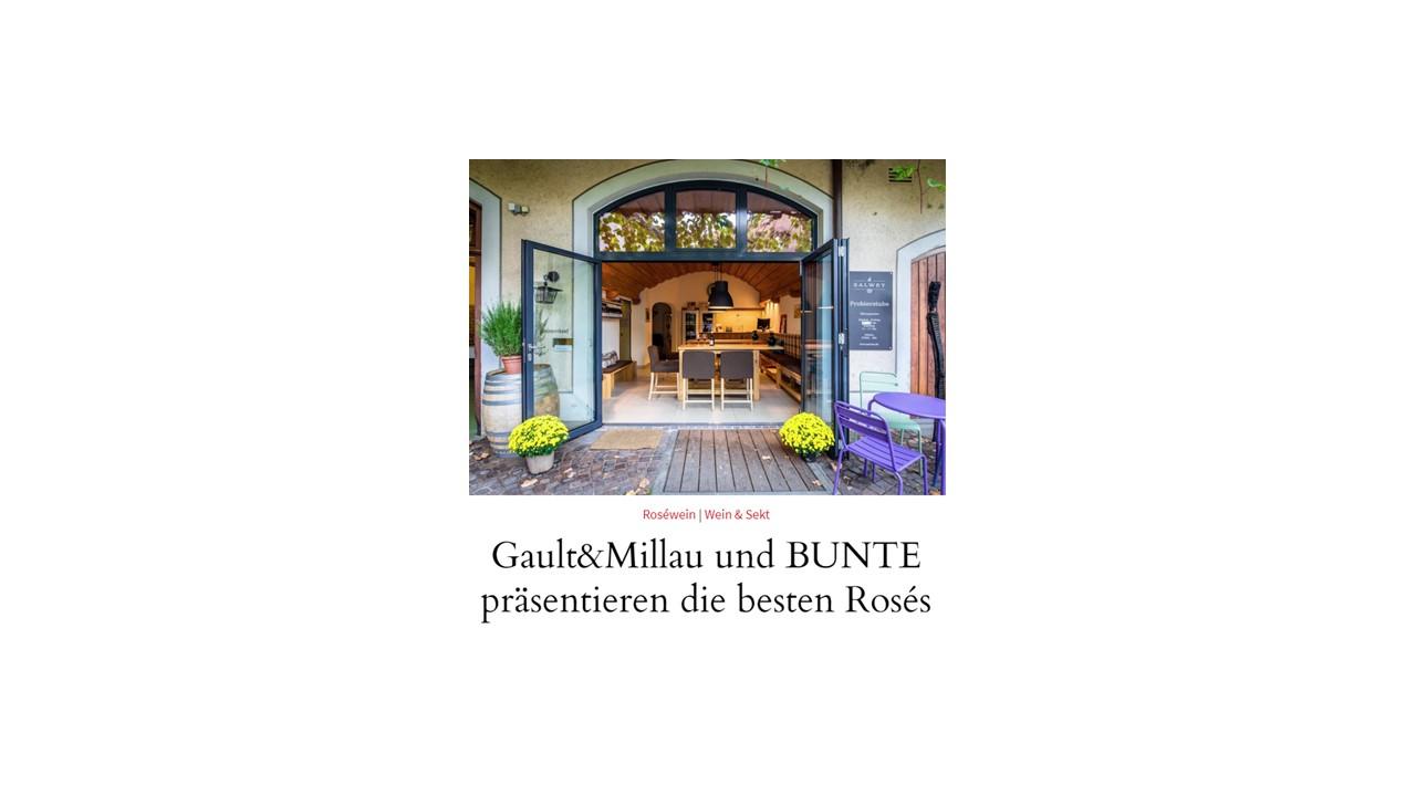 Gault&Millau und BUNTE präsentieren die besten Rosés