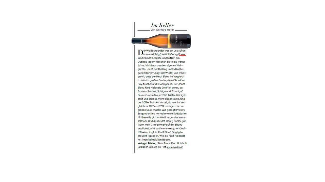 Im Keller- Pinot Blanc Ried Haidsatz 2018 Bio